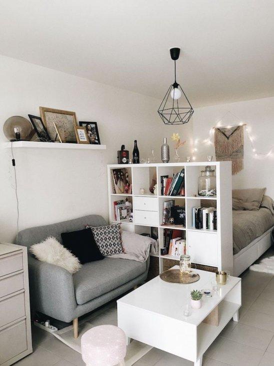 ▷ 1001 + kleine Wohnzimmerideen für Studio-Apartments .