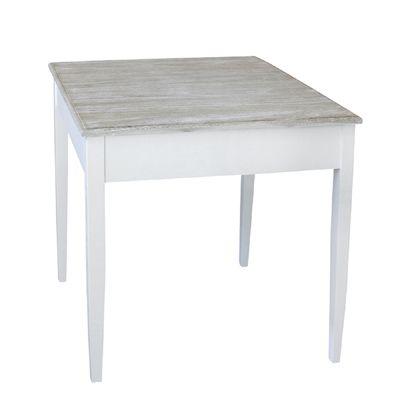 Tisch HARBOUR weiß braun kleiner Esstisch im Hamptons Chic Long .