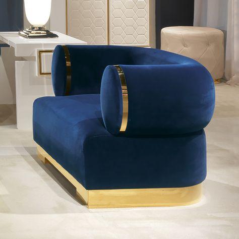 Blau Leder Stuhl Marine Blau Getuftet Sessel Grau Sessel Kleine .