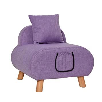 Kleiner Sofa Sitzhocker Holz Unterstützung gepolstert Fußhocker .