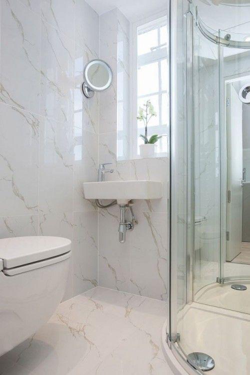 Kleines Badezimmer platzsparend einrichten -25 Ideen   Small .