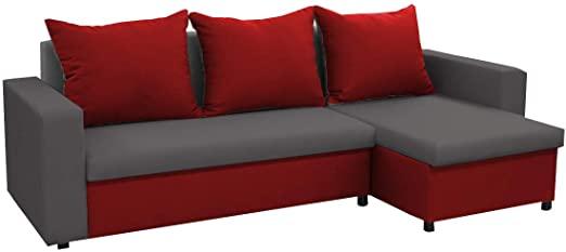 mb-moebel kleines Ecksofa Sofa Eckcouch Couch mit Schlaffunktion .