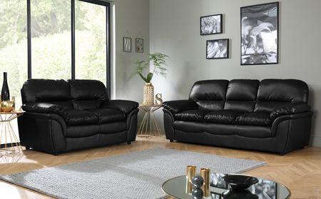 Fesselnde Schwarz Leder Sofa Set Schwarz Leder Sofas Der Meisten .