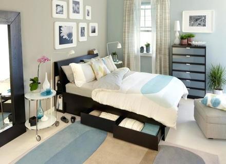 Vintage-Zimmer-Design Kleines Schlafzimmer Entwirft Gemütliche .