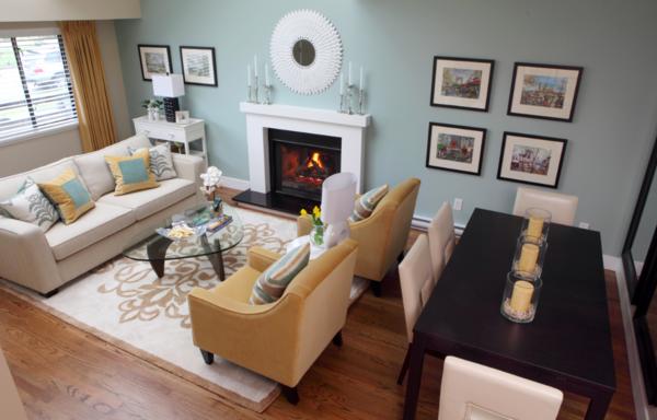 Kleines Wohnzimmer mit Essbereich einrichten - Tipps der .