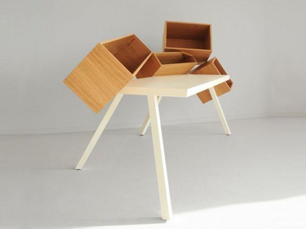 3 moderne und kompakte Schreibtische Designs für kleine Zimmer .