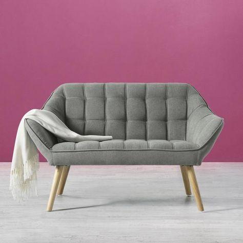 Sofa in Grau 'Monique'   Zweisitzer sofa, Couch grün und Sofas für .