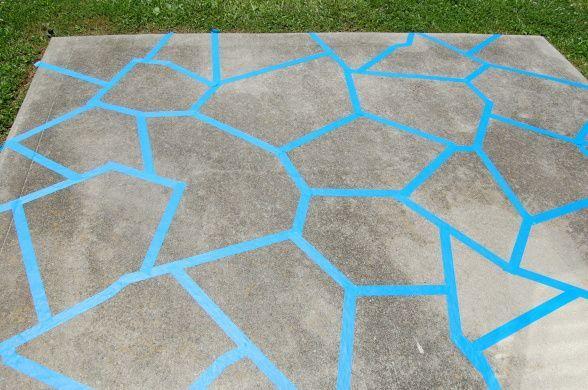 Herrliche Dekoration Patio Bodenfarbe Stilvolle konkrete Ideen .
