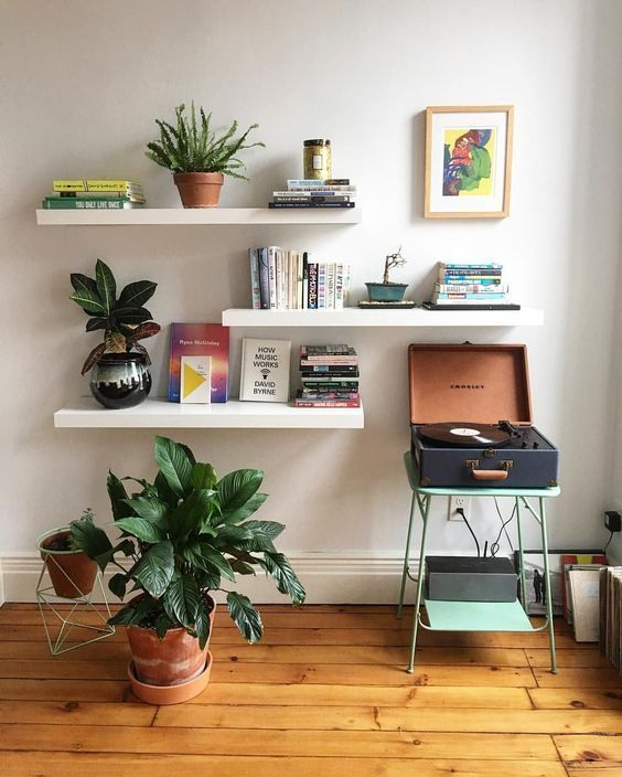 Bücherregalideen, kreative Bücherregale, minimalistische .