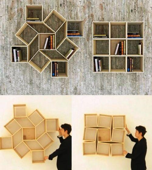 80 Ideen für einzigartig kreative Bücherregale und Bücherschränke .