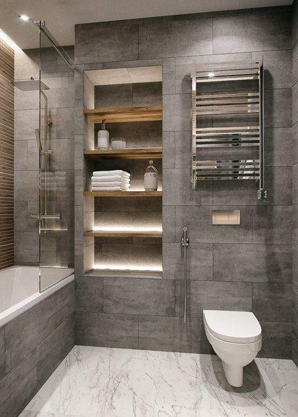 45 Kreative Ideen und Designs für kleine Badezimmer in 2020 .