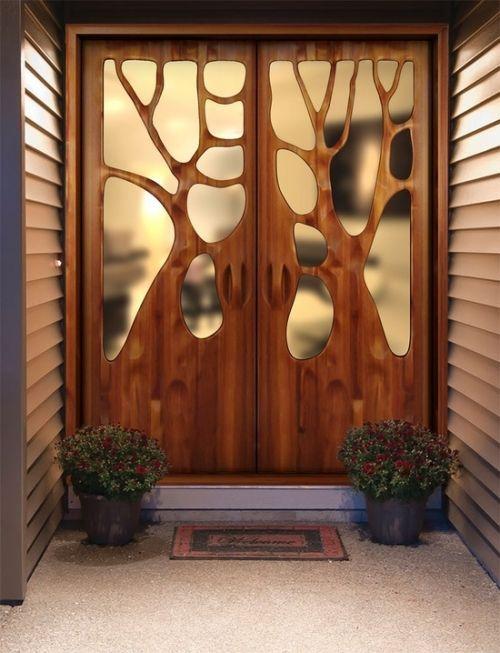 Holz Eingangstür kreative Innenausstattung original - diy .