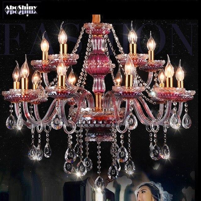 Kristall Kronleuchter Lichter Lila rotwein Lampe Für Wohnzimmer .