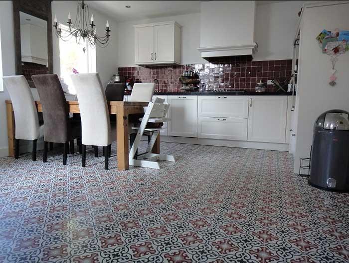 Küche Bodenfliesen