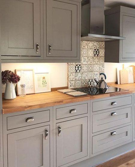 Während traditionelle Shaker Küchen mit E Buttons ausgestattet .