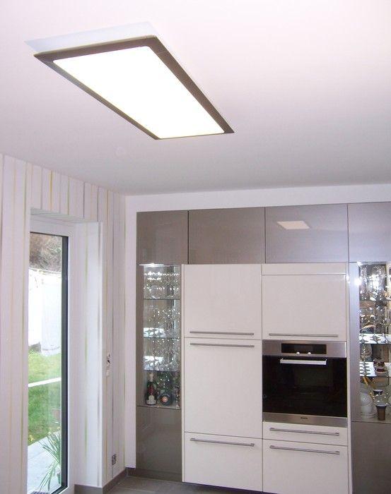 Zeitgemäße Küchenbeleuchtung mit einem vavé® LED-Panel 970370 .