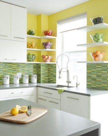 Grün-Rechteck-Mosaik-Fliesen Grüne Küchenfliesen-Modelle #fliesen .