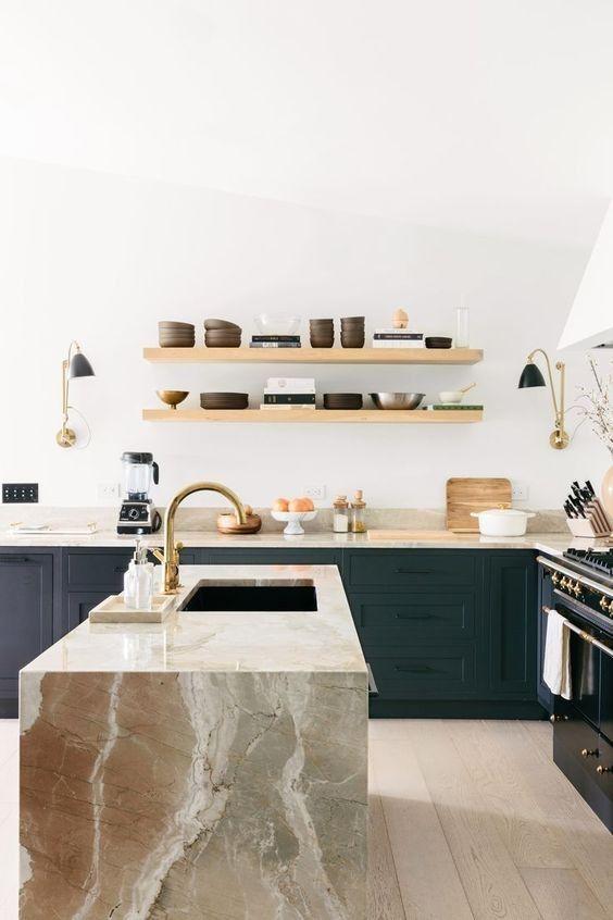 25 kontrastierende Kücheninsel Ideen für eine Aussage #aussage .