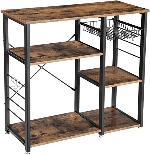 VASAGLE Küchenregal Metall, im Industrie-Design, stabiles .