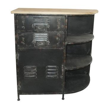 Vintage Holz Top Metall Kleine Küchenschrank Abschlussregal - Buy .
