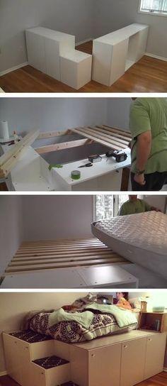 Beobachten Sie, wie dieser IKEA Küchenschrank zu einem Bett mit .