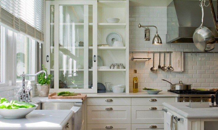 20 schöne Küchenschrank Designs mit Glas #designs #kuchenschrank .