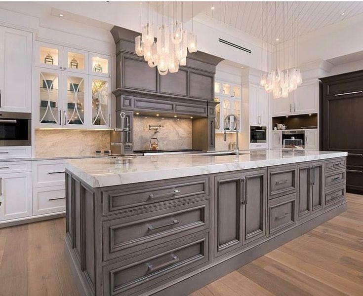 49 stilvolle graue Küchenschrank Design-Ideen | Graue .