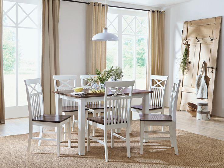 stuhle genial landhaus tisch mit sthle weiss kiefer massiv bei .