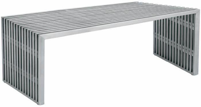 Amici Stainless Steel Bench   Home decor   Gebürsteter edelsta