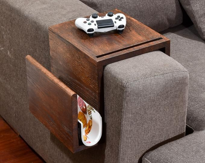 Simply Awesome Couch Sofa Arm Rest Wrap Tray Table with Side .