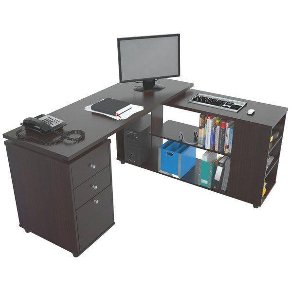 Conwell Wende-Computertisch in L-Form - | Computertisch .