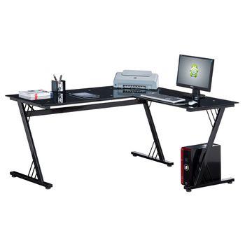 L geformter Schreibtisch