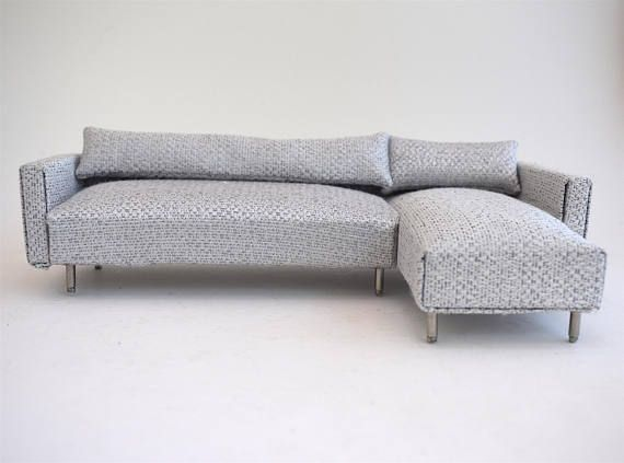 Sofa Couch Chaise Modern Miniatures 1:12 Scale Dolls House Ice .