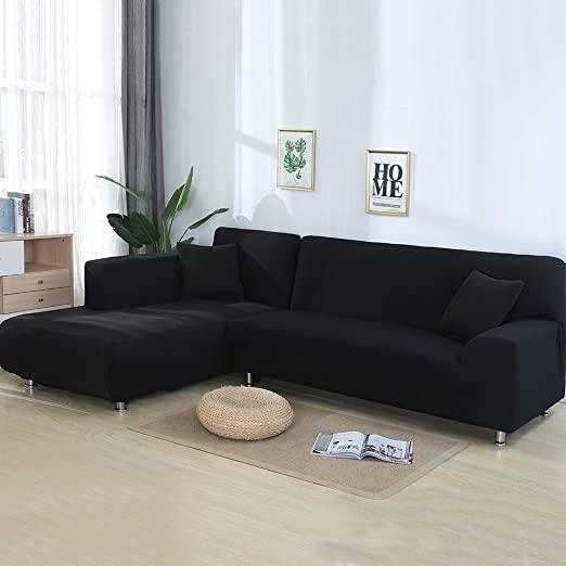 Amazon.com: cjc Universal Sofa Covers for L Shape, 2pcs Polyester .