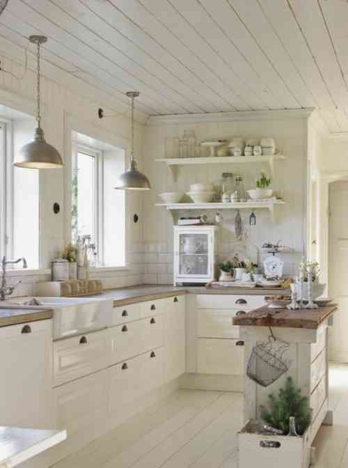 weißer Landküche Dekor   Kitchen remodel small, Kitchen interi