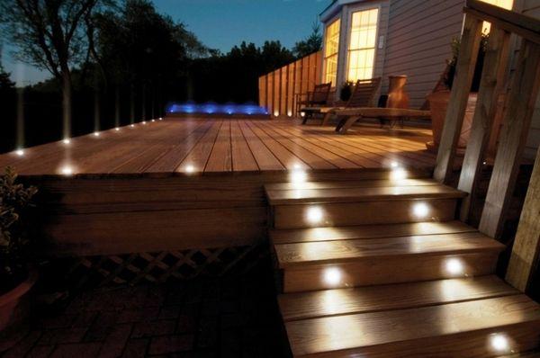 Moderne Gartenbeleuchtungsideen - tolle LED-Landschaftsbeleuchtung .