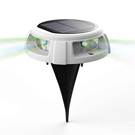 Solar-Bodenleuchte, Veofoo RGB-Solar-Gartenleuchten - 4 LED IP68 .