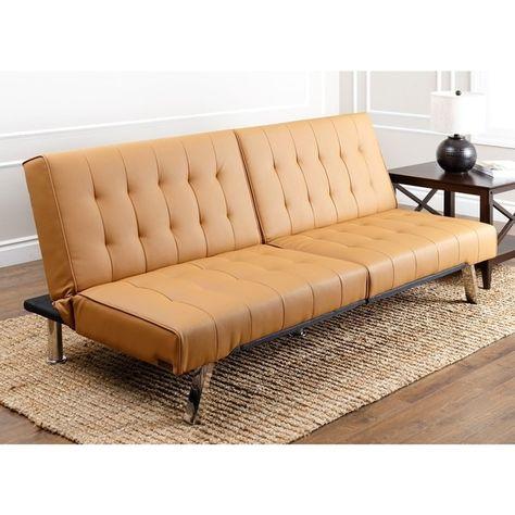 Erstaunliche Leder Futon Sofa Abson Jackson Camel Leder Faltbarer .