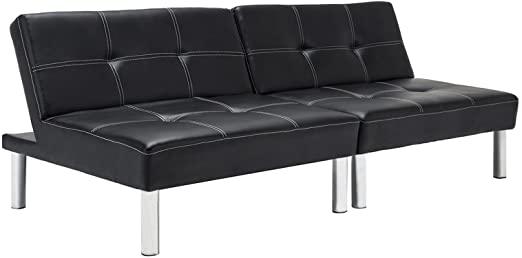 Amazon.com: Mecor Convertible Futon Sofa Bed PU Leather Reclining .