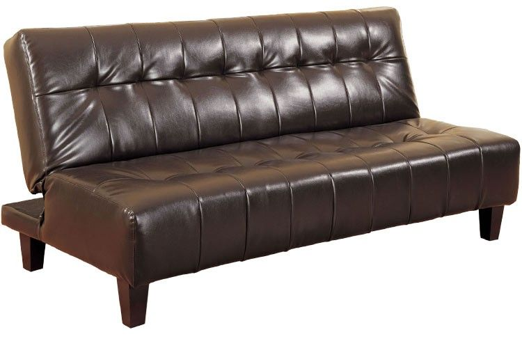 Amazing Brown Leather Futon Sofa Bed 38 Sofa Design Ideas with .
