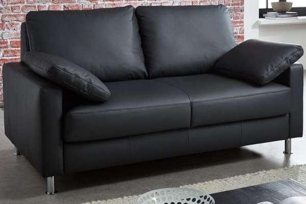 Bali Schlafsofa Flexain Leder 20-1040 schwarz in verschiedenen Größ