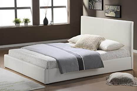 Modernes Lederbetten Bettgestell Leder Betten in weiß 140x200 .
