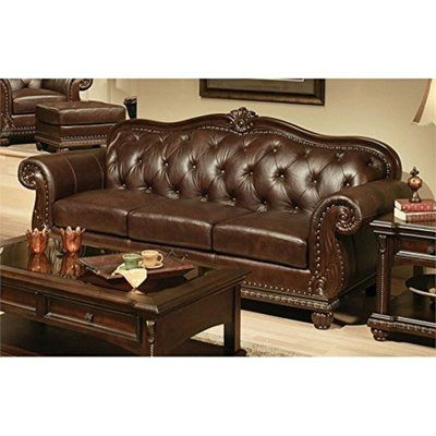 Astoria Grand Stansell Vintage Sofa   Leather sofa living room .