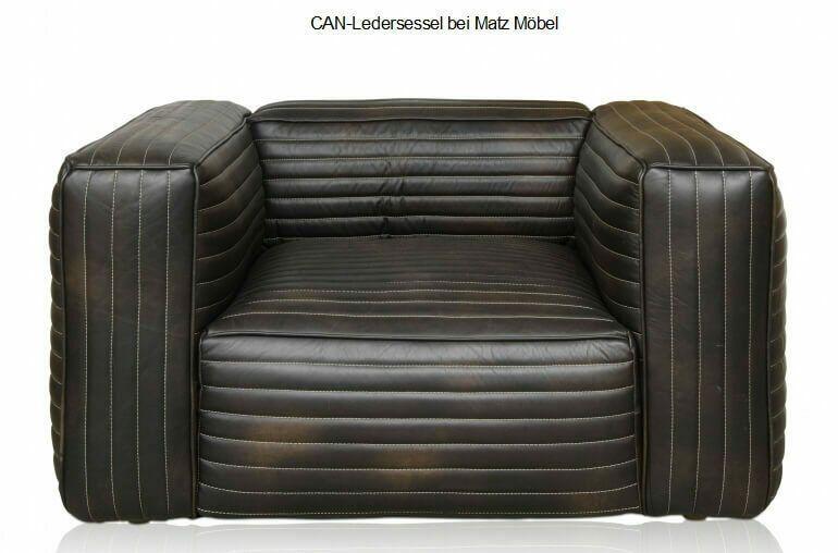 CAN-Designer Ledersessel vintage dunkelbraun-brauner Sessel Leder .