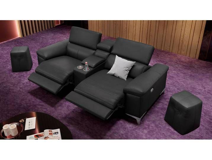 Ledersofa XXL 2-Sitzer Kinosofa VENOSA Couch in 2020 | Home, Home .