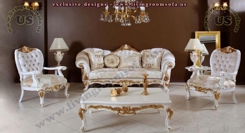 shiny avantgarde classic sofa set carved - Exclusive Design Ide