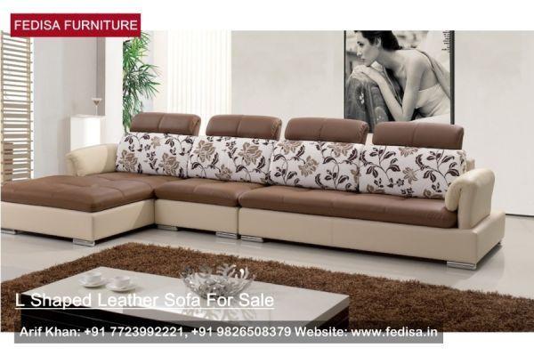 L Shape Sofa Set, L Shaped Couch, Blue Sectional Sofa | Fedisa .