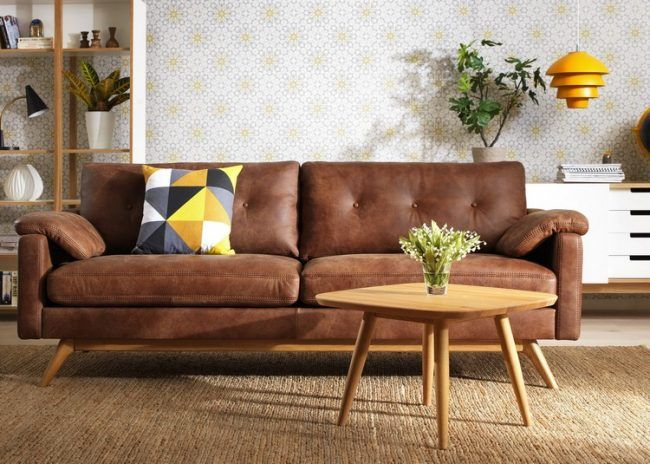 Das Ledersofa – ursprünglicher Chic für Ihr Wohnzimmer | Leder .