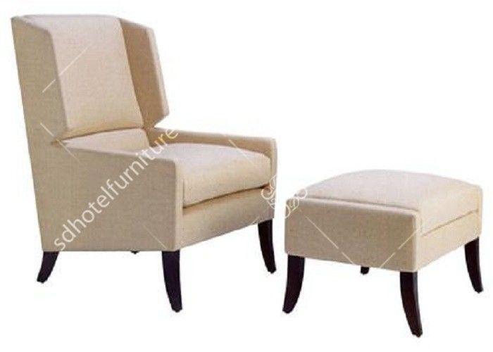 Bequemer blauer Schlafzimmer-Sessel mit Osmanen, Schwenker-/Marine .