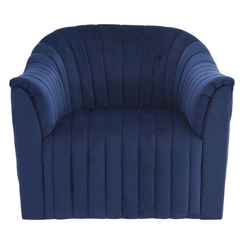 Hattie Armchair Canora Grey Upholstery Colour: Deep Blue .